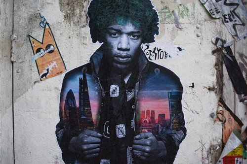 Jimi Hendrix Street Art London - Shoreditch Street Art and Music Tour | Unexpected London